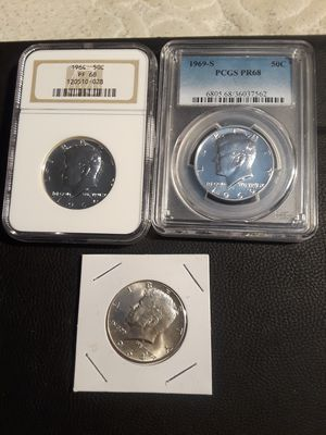 KENNEDY SILVER CERTIFIED, 1964 SILVER UNCIRCULATED BU HIGHEST GRADE KENNEDY HALF DOLLAR COINS for Sale in Bell, CA