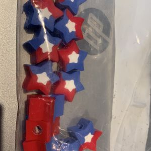 Red white and Blue star Pencil topper erasers for Sale in Snohomish, WA