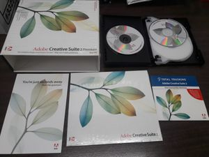 Adobe Photoshop Creative Suite 2 premium upgrade pack 7CDs + traning video 2pcs for Sale in Los Angeles, CA