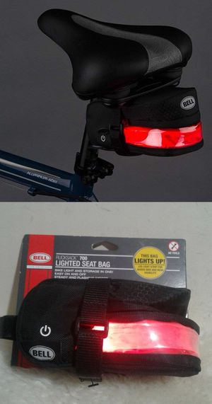 New Bell rucksack 700 lighted mountain fixie bike bicycle seat accessories bag steady or flashing modes for Sale in Los Angeles, CA