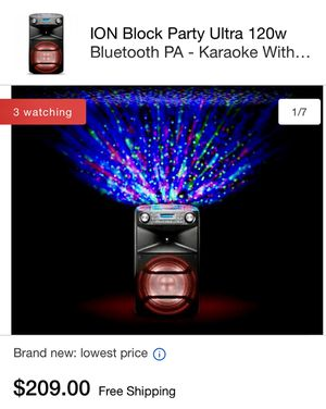 ⚡️ION ⚡️BlockPartyUltraSpeaker Karaoke PA for Sale in Glenview, IL