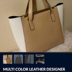 DESIGNER LEATHER TRI-COLOR HAND BAG for Sale in Wilmington, DE