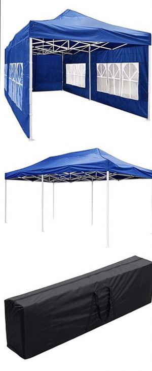‼️10x20ft POP UP CANOPY TENT WITH SIDE WALLS ‼️ for Sale in Pomona, CA