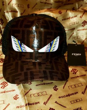 Fendi Leather trucker snap back for Sale in The Bronx, NY