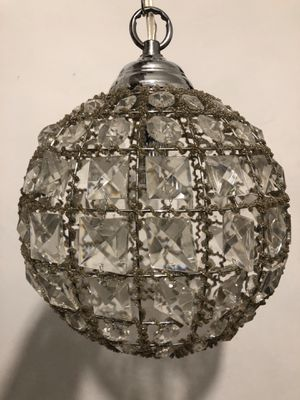 Crystal globe pendant lamp light for Sale in Los Angeles, CA