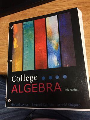 College Algebra Levitan Textbook for Sale in Harrisonburg, VA