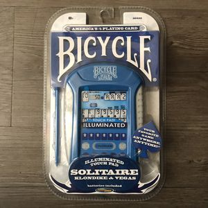 Techno source Bicycle illuminated touch pad 2 in 1 Solitaire Klondike & Vegas Hand Held electronic board game for Sale in Chandler, AZ