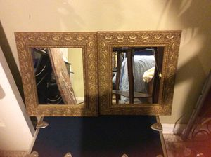Gold Wall Mirror Set of 2 : 12in by 14in for Sale in Adelphi, MD