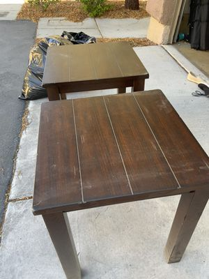 Two Brown End Tables for Sale in Las Vegas, NV