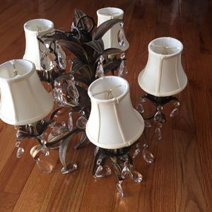 Crystal chandelier light fixture for Sale in St. Louis, MO