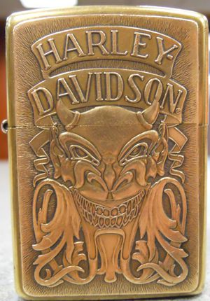 Zippo Harley-Davidson Demon Devil Satan Solid Brass Lighter X 1994 USED for Sale in San Fernando, CA