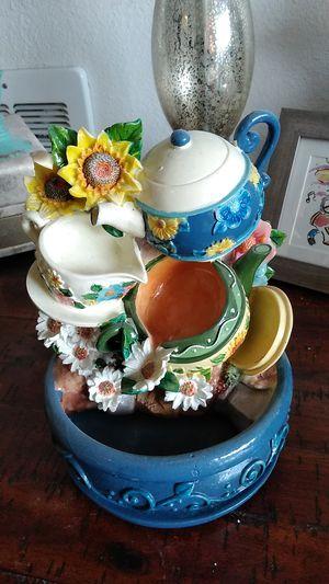 Tea set functioning fountain for Sale in Mountlake Terrace, WA