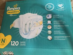 Box of Newborn Size Pampers diapers. for Sale in Tracy, CA