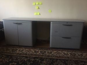 Office desk. Don't have key but it is unlocked. for Sale in Queens, NY