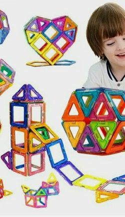 200pcs All Magnetic Building Blocks Construction Children Toys Educational Block~ for Sale in Sacramento,  CA