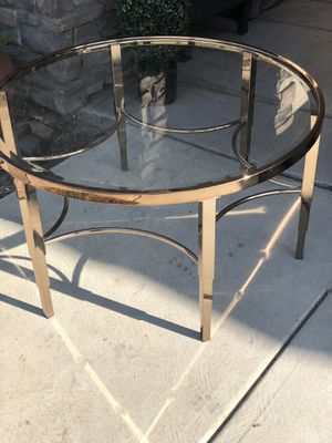 Brand new gold color metal frame coffee table with glass top. Retails for over $260 for Sale in Fowler, CA
