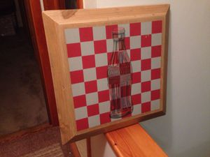 Coca Cola Wooden Checkers Game Board for Sale in Franklin Park, IL