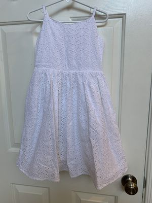 Gymboree, size 7, white, dress, flower girl for Sale in Glendale, AZ
