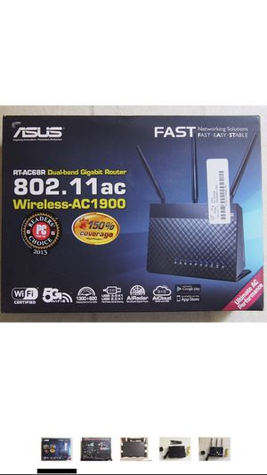 ASUS (RT-AC68R) Wireless-AC1900 Dual-Band Gigabit Router for Sale in Kissimmee, FL