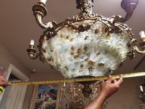 Murano and bronze chandelier for Sale in Tampa, FL