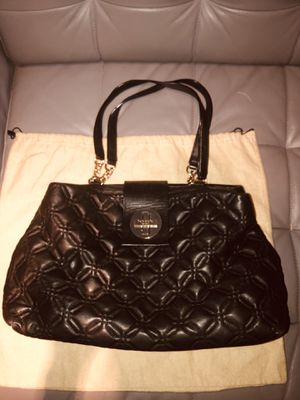Kate Spade Quilted Leather Tote Purse with Chain and Lock for Sale in Denver, CO