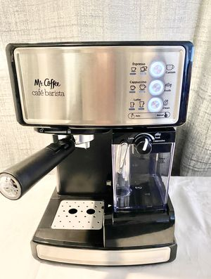Mr. Coffee Espresso and Cappuccino Maker Cafe Barista , Silver for Sale in Henderson, NV