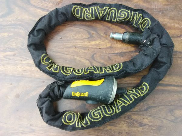 On Guard Anti-theft Motorcycle lock 5' long