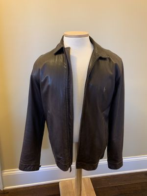 Mens Ralph Lauren Lambskin Leather Jacket Large TALL for Sale in Milton, WV
