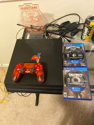 PS4 Pro 1tb w/BBC Controller & 2 games for Sale in Plantation, FL