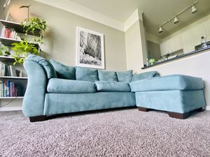 Couch with chaise for Sale in Columbus, OH