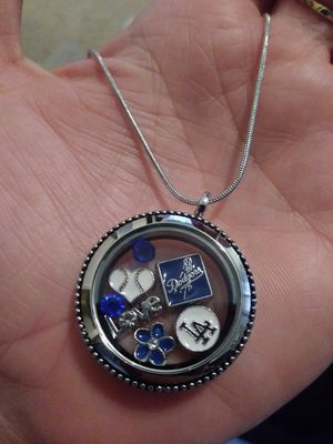 New Dodgers baseball floating charm locket necklace for Sale in Lakewood, CA