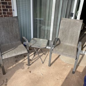Pair Of Outdoor Chairs w/ Table for Sale in Manassas, VA