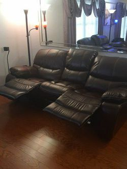 Leather Sofa And Love Seat Recliner Set for Sale in Tampa,  FL