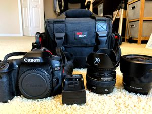 Canon 80D with 2 lens and accessories for Sale in Orlando, FL
