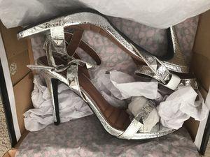 Dollhouse Silver Heel Sandals size 9 for Sale in Lynchburg, VA