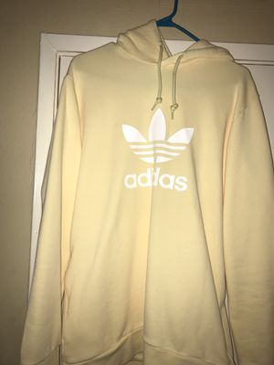Adidas Trefoil Yellow Hoodie Size M for Sale in Garden Grove, CA
