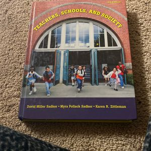 Teachers, Schools, And Society 8th Edition for Sale in Trenton, NJ