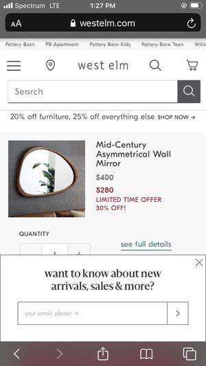 West elm wall mirror for Sale in Orlando, FL