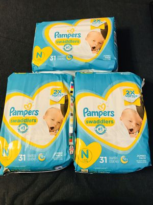 3 packs of unopened newborn diapers $18 for all 3 for Sale in Columbus, OH