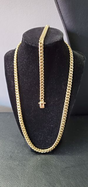 Miami Cuban Link Chain & Bracelet Set for Sale in The Bronx, NY