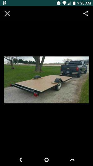 12 foot flat bed utility trailer for Sale in Glen Ellyn, IL