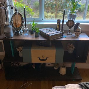 Mid Century S Shape Console Table for Sale in Portland, OR