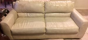 White Leather Couch! for Sale in Richardson, TX