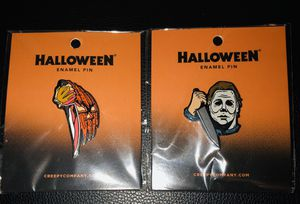 Halloween Michael Myers Horror Enamel Pins Set Of 2 Rob Zombie Frankenstein 🎃 for Sale in Moreno Valley, CA