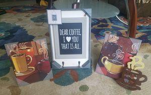 Coffee kitchen decor for Sale in Wichita, KS