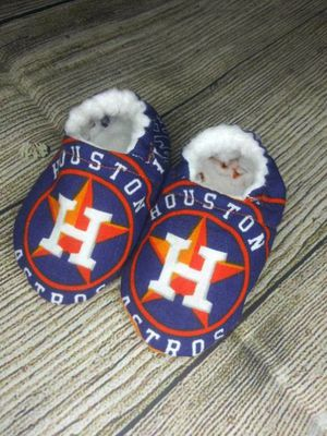 handmade houston astros moccasins for Sale in Houston, TX
