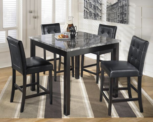 Table faux marble 4 chair