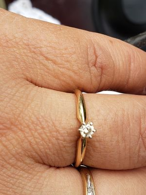 """""""Love Story"""" engagement ring 14k and 1@10 diamond size 6.5 for Sale in Everett, WA"""