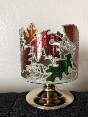 Bath & Body Works Dancing Leaves 3-wick candle holder for Sale in Rancho Cucamonga, CA