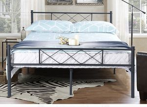 Metal headboard footboard with mattress and box spring for Sale in Concord, NC